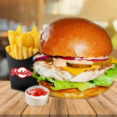 бургер-меню с курицей