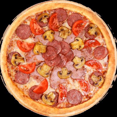 пицца буча с ветчиной и грибами фото