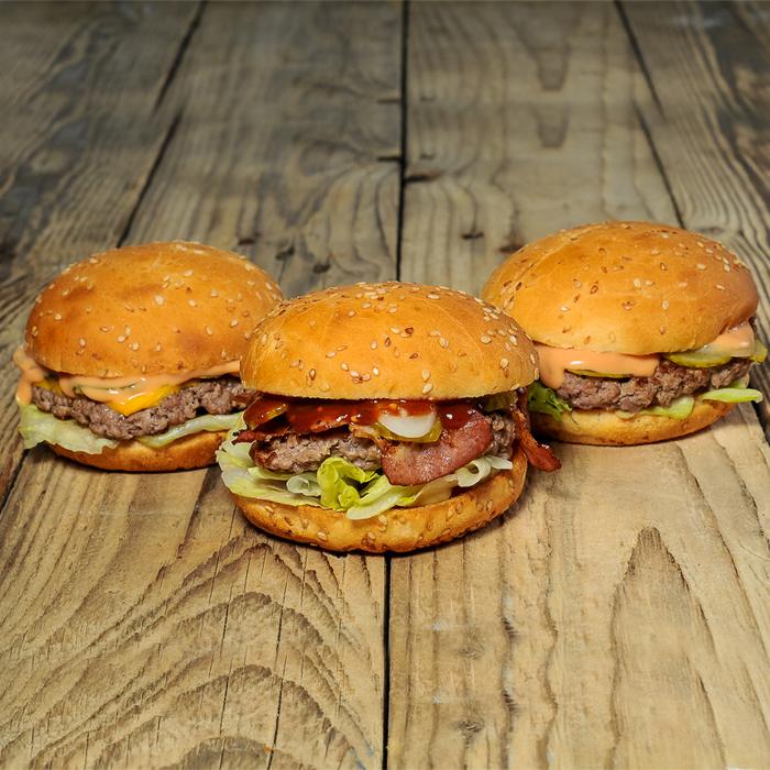 заказать cет из 3 бургеров