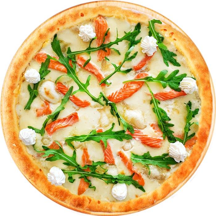 фото пиццы с сыром Филадельфия и лососем в Ирпене и Буче