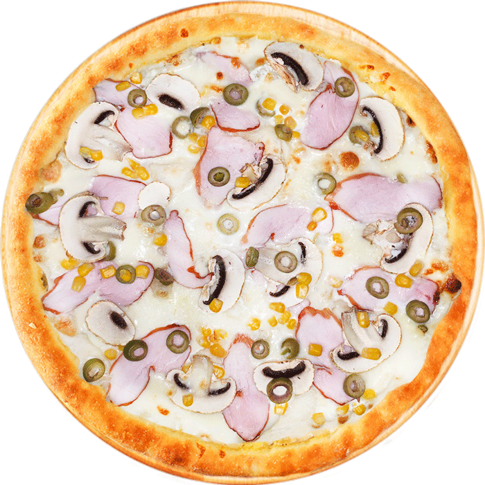пицца чикен чиз с курицей и грибами фото ирпень