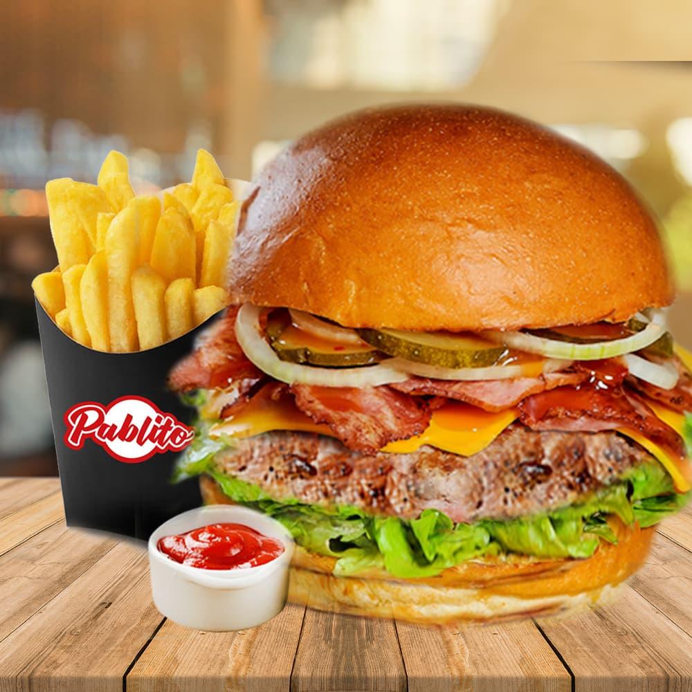бургер с беконом меню фото